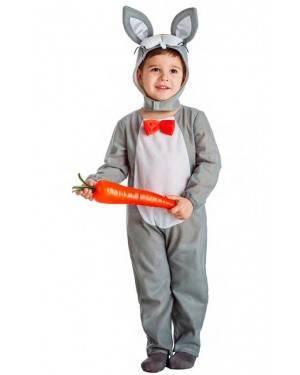 Costume Coniglietto Grigio Tg. 10-12 Anni