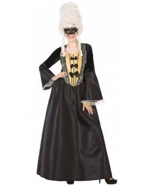 Costume Cortigiana Nero Donna per Carnevale | La Casa di Carnevale