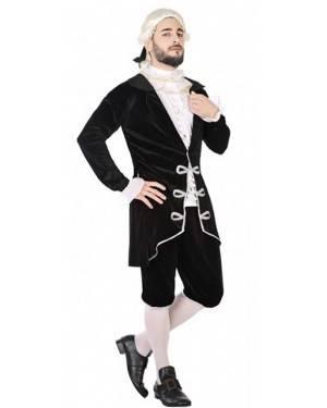 Costume Cortigiano Nero Adulto per Carnevale | La Casa di Carnevale
