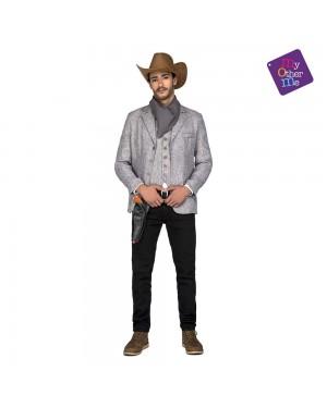 Costume Cowboy Grigio M/L  per Carnevale | La Casa di Carnevale