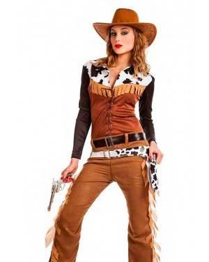 Costume Cowgirl Texas Taglia M-L per Carnevale