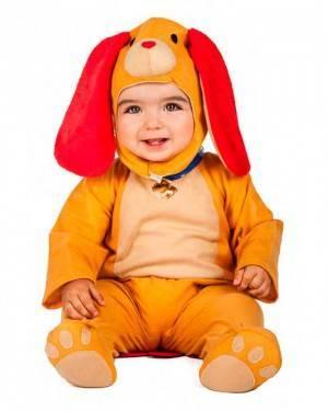 Costume Cucciolo Cane Marrone Tg. 0-6 Mesi
