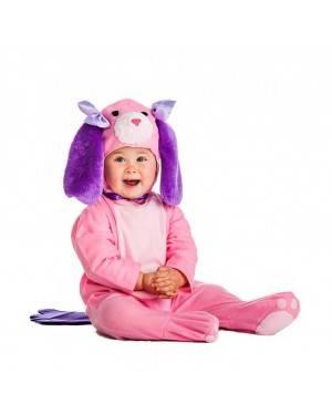 Costume Cucciolo Cane Rosa Tg. 7-12 Mesi