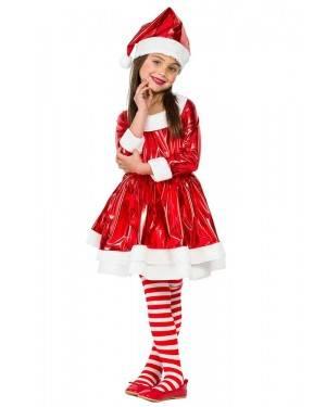 Costume da Babba Natala Rosso Elettrico Bimba