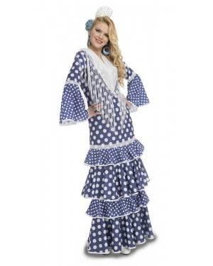 Costume da Ballerina di Flamenco Alvero Blu Adulto