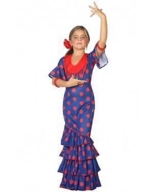 Costume Ballerina di Flamenco Blu Bambna
