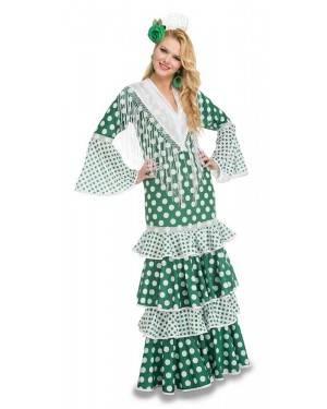 Costume da Ballerina di Flamenco Fiera Verde Adulto