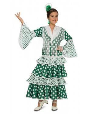Costume da Ballerina di Flamenco Fiera Verde Bambina