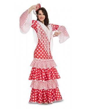 Costume da Ballerina di Flamenco Sivigliana Rosso Adulto