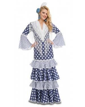 Costume da Ballerina di Flamenco Solea Blu Adulto