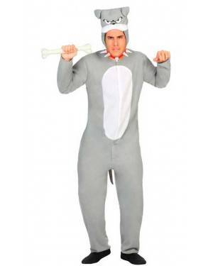 Costume Cane Grigio Adulto XL