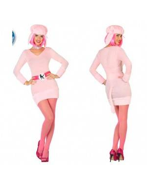 Costume Cane Rosa M/L