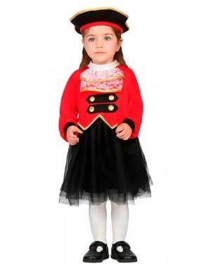 Costume da Capitano Pirata Bambina 0-6 Mesi per Carnevale