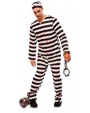 Costume da Carcerato Zombie Adulto