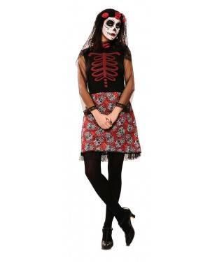 Costume da Catrina Rosso Donna