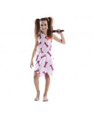 Costume da Cavernicola Bianca Bambina per Carnevale | La Casa di Carnevale