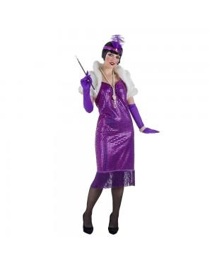 Costume da Charleston de Luxe Porpora Donna per Carnevale | La Casa di Carnevale