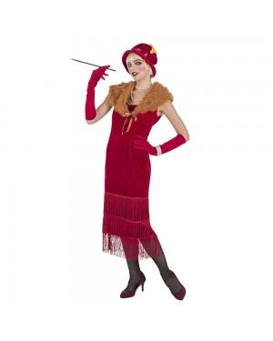 Costume da Charleston Rosso de luxe Donna per Carnevale | La Casa di Carnevale