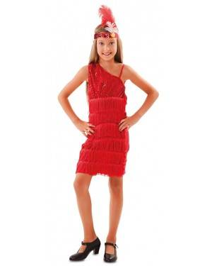 Costume da Charleston Rosso per bambine