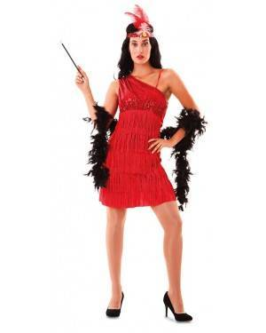 Costume da Charleston Rosso per Donna
