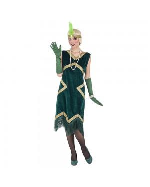 Costume da Charleston Verde de Luxe Donna per Carnevale | La Casa di Carnevale