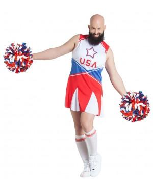 Costume da Cheerleader per Uomo per Carnevale | La Casa di Carnevale