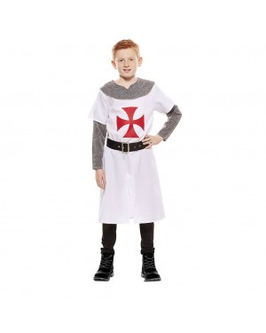 Costume da Crociato Medievale Bianco Bambino per Carnevale | La Casa di Carnevale
