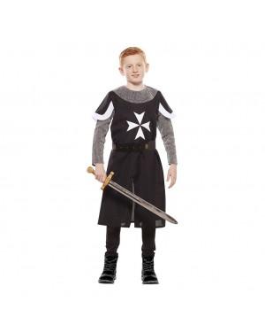 Costume da Crociato Medievale Nero Bambino per Carnevale | La Casa di Carnevale