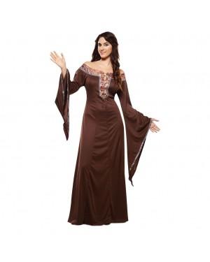Costume da Dama Medievale Marrone per Carnevale | La Casa di Carnevale