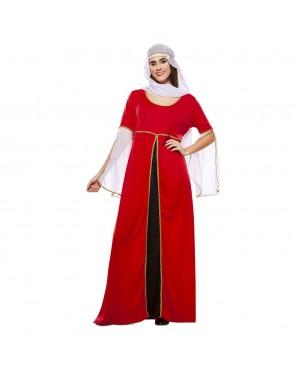 Costume da Dama Medievale Rosso  per Carnevale | La Casa di Carnevale
