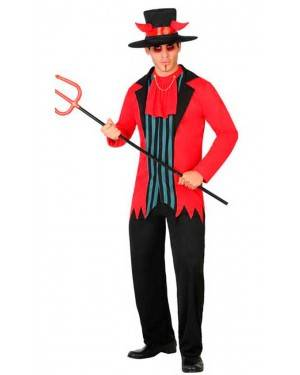 Costume Demone a Righe Adulto XL