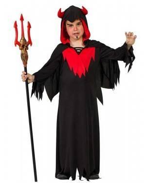 Costume da Demone con Cappuccio Bimbo
