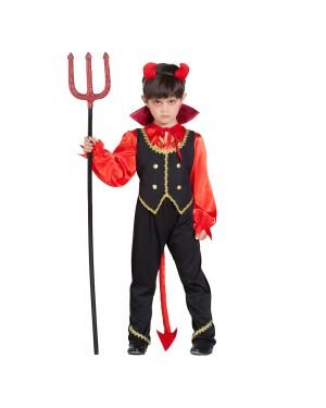 Costume da Demone Fuocco Bambino per Carnevale | La Casa di Carnevale