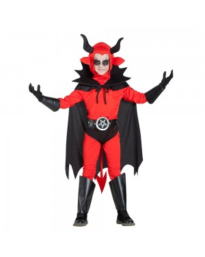 Costume da Demone Slip con Mantello Bambino per Carnevale | La Casa di Carnevale