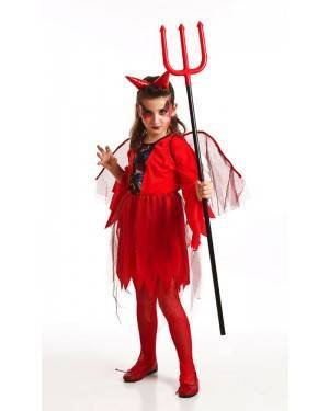 Costume da Diavolessa Bambina per Carnevale | La Casa di Carnevale