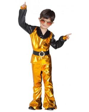 Costume da Discoteca Oro Bambino per Carnevale | La Casa di Carnevale