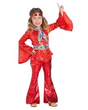 Costume da Discoteca Rosso Bambina per Carnevale | La Casa di Carnevale