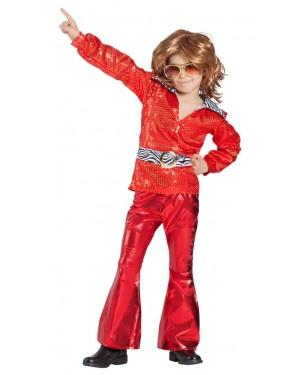 Costume da Discoteca Rosso Bambino per Carnevale | La Casa di Carnevale