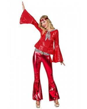 Costume da Discotecara Rosso Donna Taglia M/L