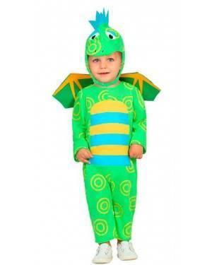 Costume Drago Verde 6-12 Mesi