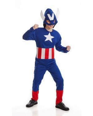 Costume da Eroe Americano Bambino per Carnevale | La Casa di Carnevale
