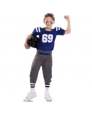 Costume da Giocatore di Football Americano Bambino per Carnevale | La Casa di Carnevale