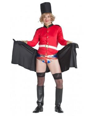 Costume da Guardia Inglese con Bandiera a Sorpresa per Carnevale | La Casa di Carnevale