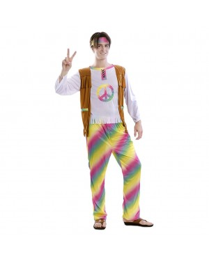 Costume da hippie Arcobaleno Adulto per Carnevale | La Casa di Carnevale
