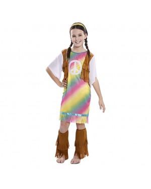 Costume da Hippie Arcobaleno Bambina per Carnevale | La Casa di Carnevale