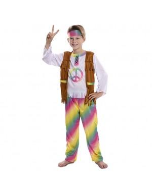 Costume da Hippie Arcobaleno Bambino per Carnevale | La Casa di Carnevale