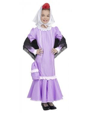Costume da Madrilena Lilla Bambina per Carnevale | La Casa di Carnevale