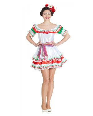 Costume da Messicana Gonna Corta per Carnevale | La Casa di Carnevale
