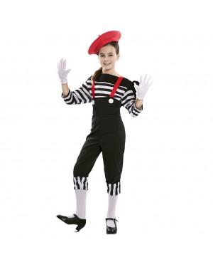 Costume da Mimo Bambina per Carnevale | La Casa di Carnevale