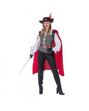 Costume da Moschettiera Grey Donna per Carnevale | La Casa di Carnevale